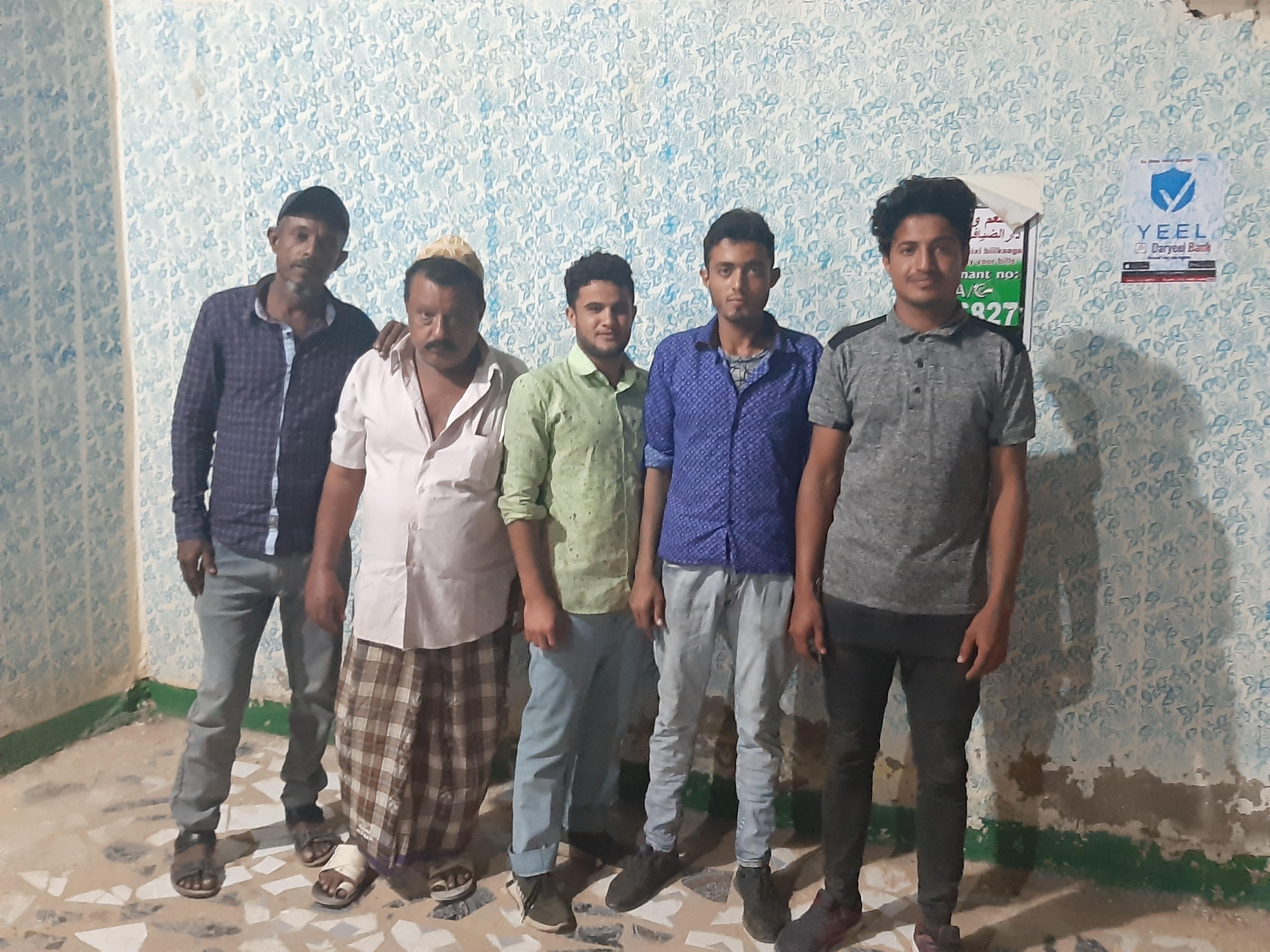Yemeni staff in a restaurant in Garowe