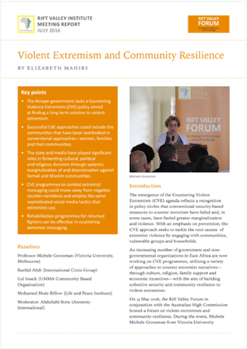 Violent Extremism and Community Resilience