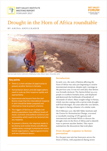 Drought in the Horn of Africa Roundtable