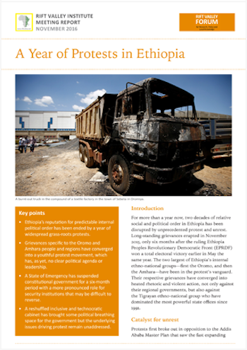 A Year of Protests in Ethiopia