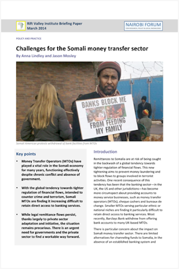 Challenges For The Somali Money Transfer Sector