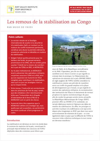 Les remous de la stabilisation au Congo