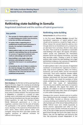 Rethinking state-building in Somalia