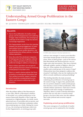 Understanding Armed Group Proliferation in the Eastern Congo