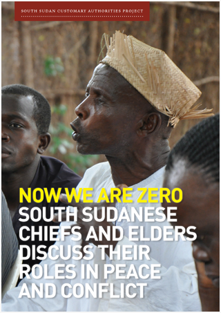 South Sudanese chiefs and elders discuss their roles in peace and conflict