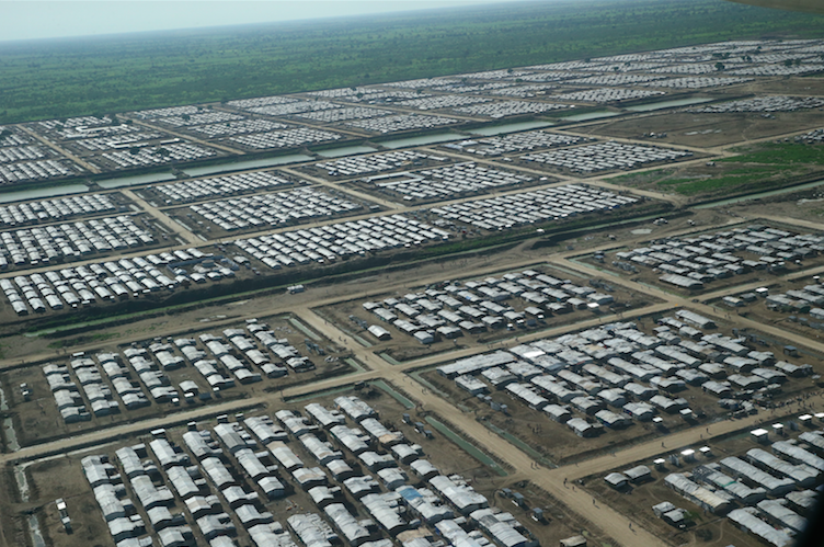 Aerial view of Bentiu Protection of Civilians (POC) site. 11 June 2016. Source: UN