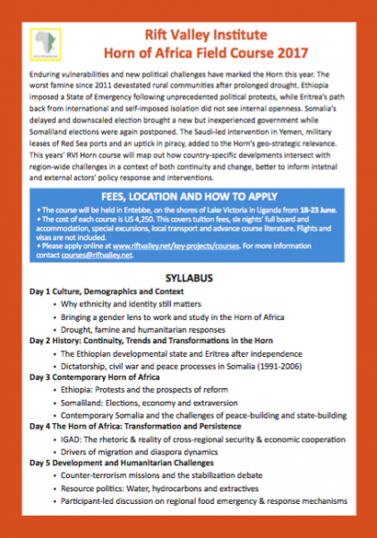 Click to download the Horn of Africa Field Course Flyer