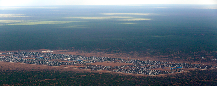 An aerial view of the Ifo 2 Refugee Camp in Dadaab, Kenya, 29 October 2014, UN Photo.